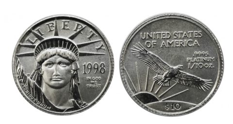 $10 American Platinum Eagle coin