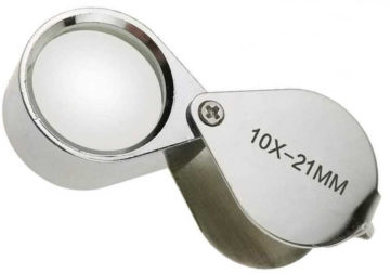 The 10X coin loupe magnifier is my most used and all-time favorite