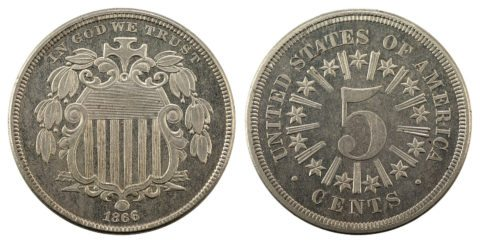 1866 Shield Nickel