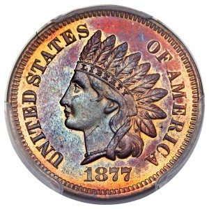 1877 Indian Cent US Coins