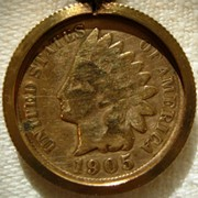 Picture of a 1905 Indian Head Penny
