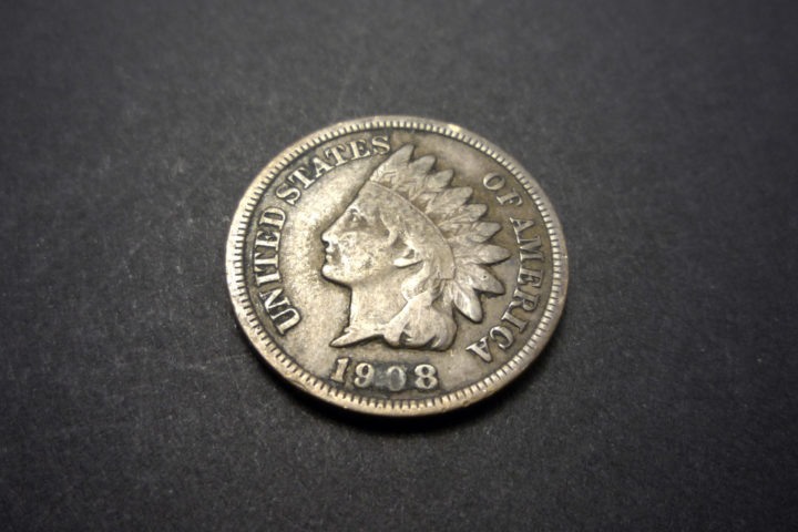 1908 Indian Head penny. photo by mr smashy on Flickr