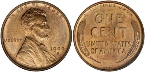 This is the first Lincoln penny - a 1909 S VDB Lincoln cent - a small cent coin.