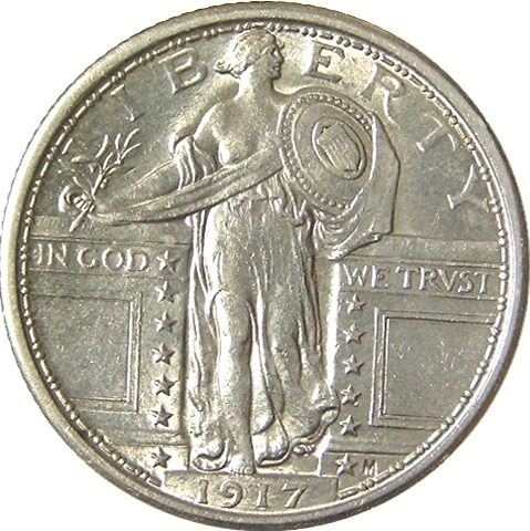 This is a 1917 Standing Liberty quarter