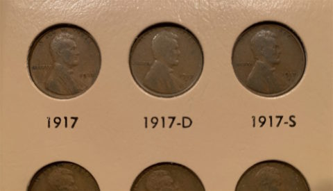 See the 1917 penny value here.