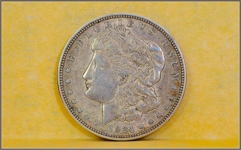 A 1921 Morgan Silver Dollar