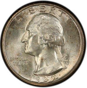 1932 Washington Quarter US Coins