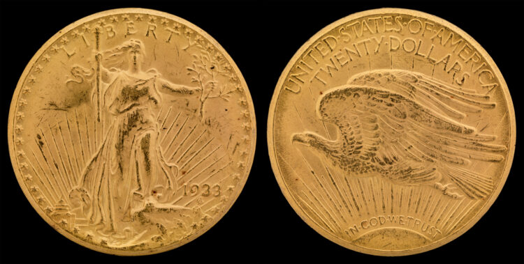The most valuable coin in the world is a 1933 Saint Gaudens double eagle like this one that resides at the Smithsonian Institute in Washington, D.C.