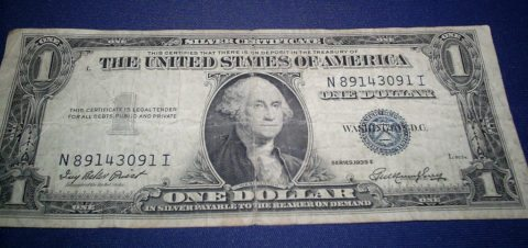 This is a 1935 U.S. dollar bill