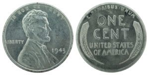 This is a 1943 Lincoln steel cent.