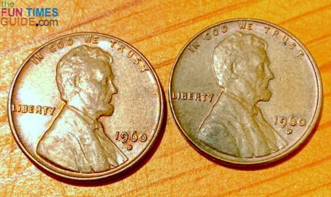 I found a couple of 1960 small date pennies -- which are slightly more valuable than large dates.
