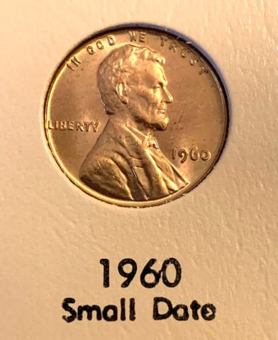 This is a 1960 small date penny