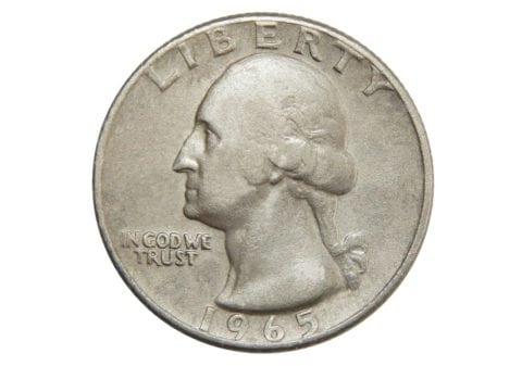 A 1965 silver quarter is rare because in 1965 U.S. quarters were supposed to be made of copper-nickel clad.