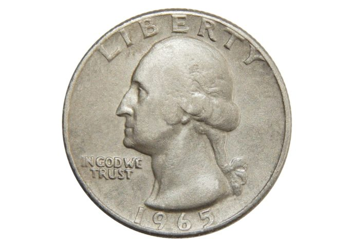 A 1965 Silver Quarter Is Rare Because In US Quarters Were Supposed To Be Made