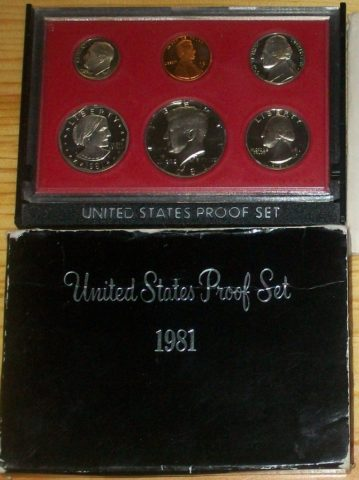 The 1981 proof set comes in 2 varieties - do you have the valuable one?