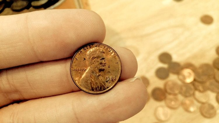 1982 copper penny - 1982 small date penny