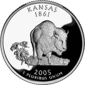 There are three 2005 Kansas quarter errors to look for. Some are worth $100 or more!