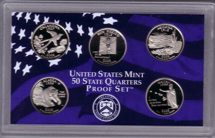 State Quarters Proof Sets How Much Are They Worth - First state quarters of the us collectors map
