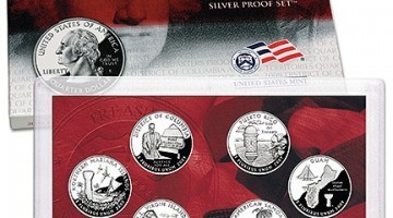 New 2009 Territories Quarters U.S. Mint Silver Proof Set