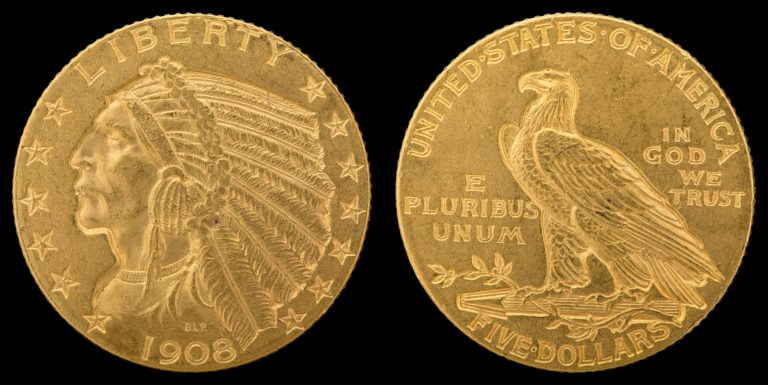 This is a $5 Half Eagle gold coin - 5 dollar gold coin