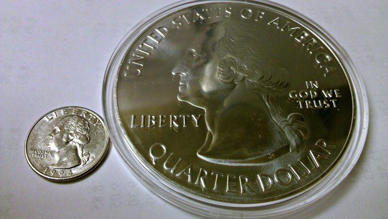 Enormous 5 Ounce Silver America The Beautiful Bullion Coins Are Replicas Of Atb Quarters That