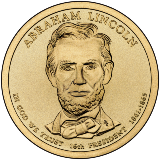 2010 Abraham Lincoln Dollar Coin