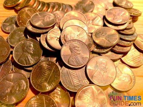 I found 70+ coins that show no evidence of wear -- so essentially, they're uncirculated and are worth 5 to 10 cents apiece.
