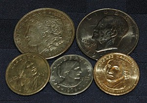 Dollar Coins In Several Diffe Designs The U S Public Still Doesn T Use Them