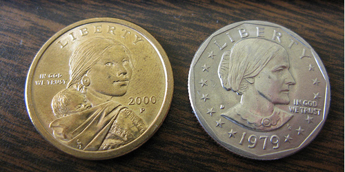 The Sacagawea Dollar Coin And Susan B Anthony