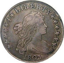 The mature Lady Liberty on the Draped Bust dollar coin is symbolic of the United States' maturing democracy. Early American coins like this one have so much history... see what they're worth today!