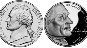 historical values Jefferson nickel