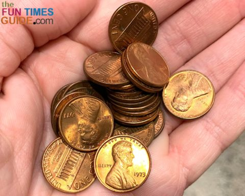 All Lincoln pennies dated before 1983 are worth 2 cents apiece for their copper content!