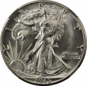 obverse of the walking liberty half dollar coin