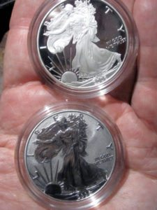 Walking Liberty Half Dollar American Silver Eagle coins