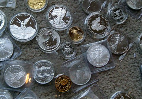 Silver coins, gold coins, and platinum coins are all bullion coins.
