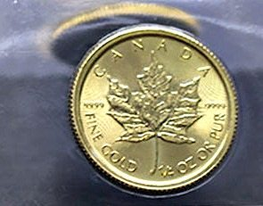 This is a 1/4 oz. Canada gold coin.