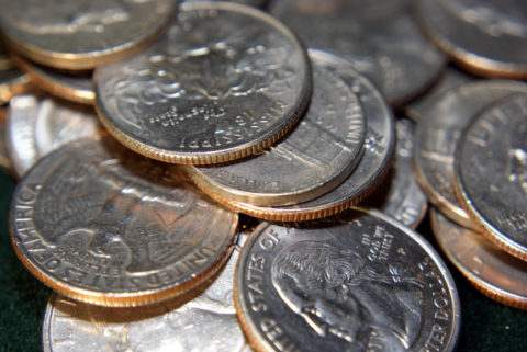 A closeup look at the edges of clad coins. As you can see from their edges, the nickels are not clad coins.
