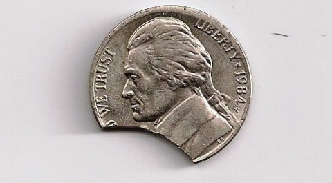This is an example of a clipped planchet coin.