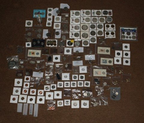 A unique coin collection gathered by a single coin collector.