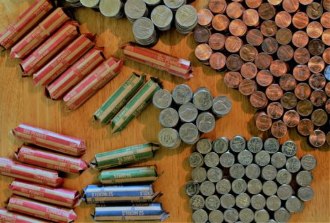 Coin roll hunting can yield lots of valuable coins... and not-so-valuable interesting coin finds!