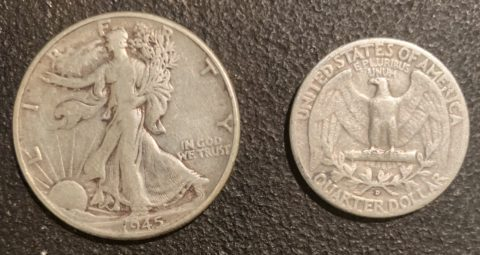 Examples of junk silver coins - aka cull coins.
