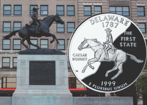 The Delaware quarter features a horse in the design. That horse plays a very important role in determining whether you have a Delaware quarter error or not.
