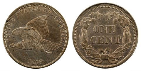 Flying Eagle cent - a Flying Eagle penny