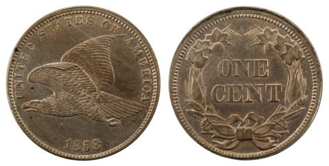 This is the Flying Eagle cent - the first U.S. penny / first U.S. small cent