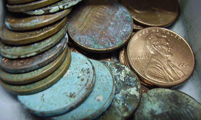 how do you clean coins