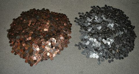 Many people hoard copper pennies - because they are worth more than face value.
