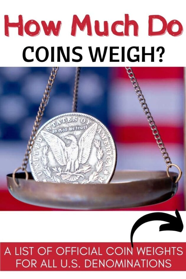 U.S. Coin Weights - a list of the official weights for all U.S. denominations of coins.