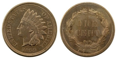 This is an 1859 Indian Head penny - the second U.S. small cent ever made