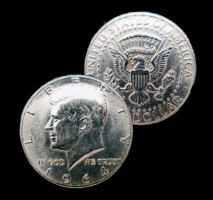 See the current Kennedy half dollar value