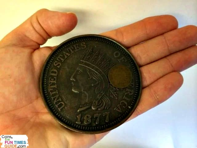 Large 1877 Indian Head Penny